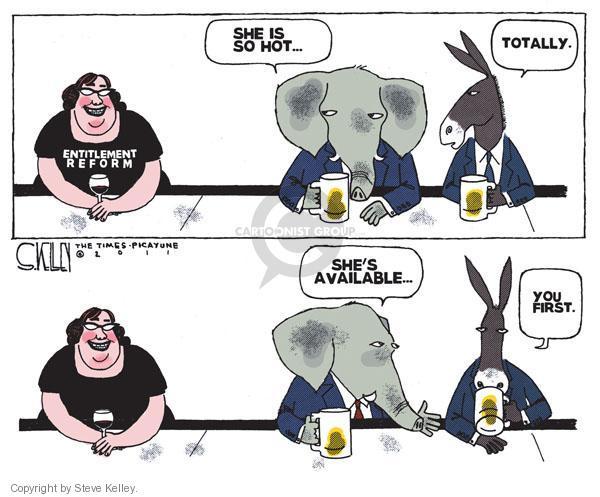 Cartoonist Steve Kelley  Steve Kelley's Editorial Cartoons 2011-02-23 republican democrat