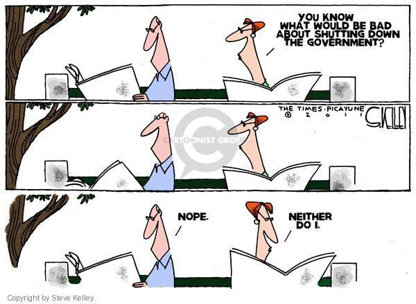 Cartoonist Steve Kelley  Steve Kelley's Editorial Cartoons 2011-04-10 shut