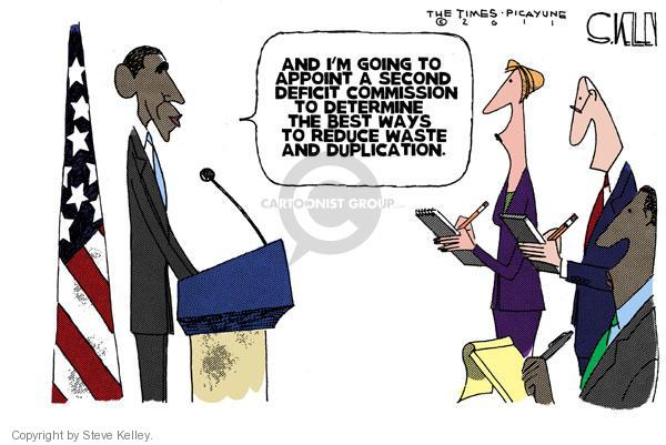 Steve Kelley  Steve Kelley's Editorial Cartoons 2011-04-15 federal budget