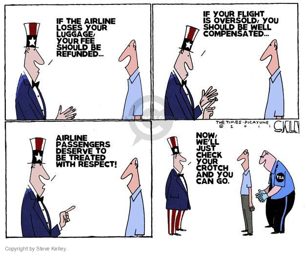Steve Kelley  Steve Kelley's Editorial Cartoons 2011-04-21 air travel