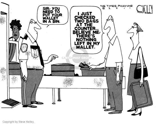 Cartoonist Steve Kelley  Steve Kelley's Editorial Cartoons 2011-06-15 left me