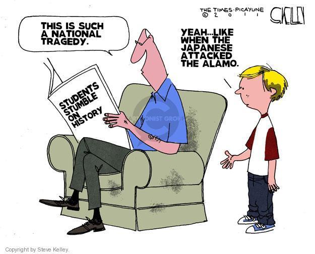 Steve Kelley  Steve Kelley's Editorial Cartoons 2011-06-19 history