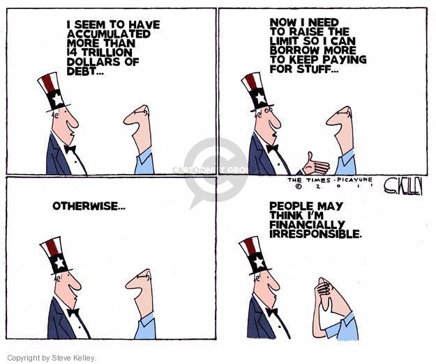 Steve Kelley  Steve Kelley's Editorial Cartoons 2011-06-26 trillion