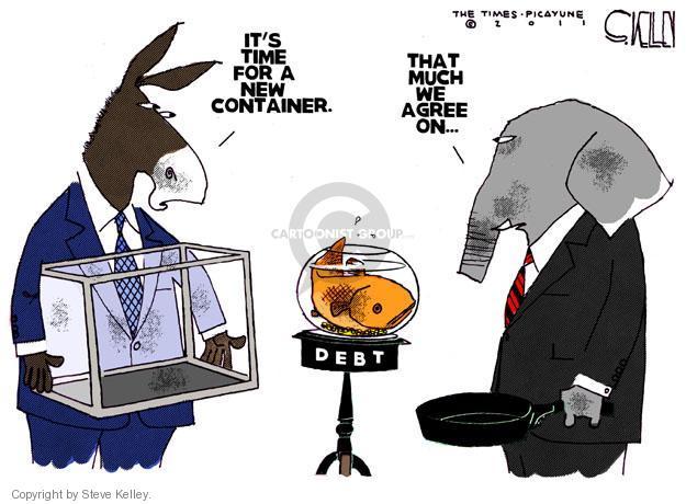 Steve Kelley  Steve Kelley's Editorial Cartoons 2011-06-28 deficit