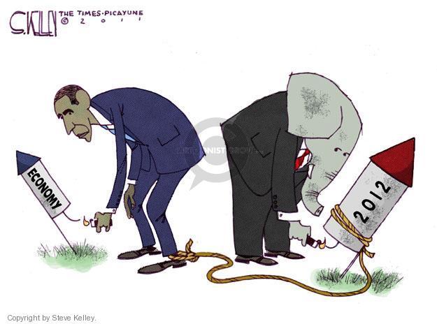 Steve Kelley  Steve Kelley's Editorial Cartoons 2011-07-03 GOP