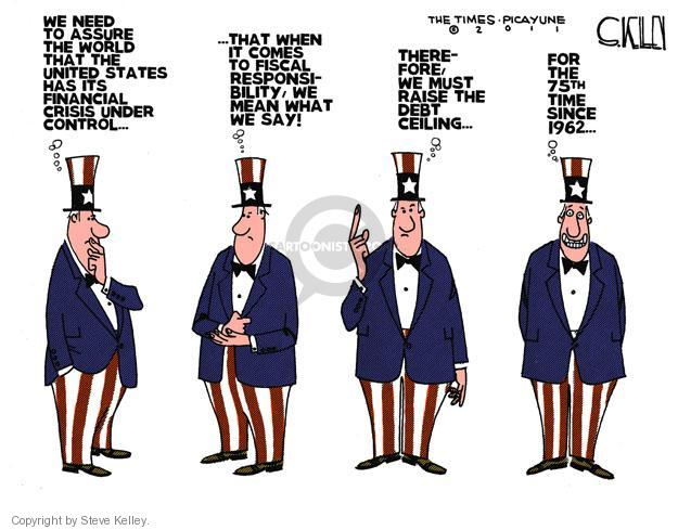 Cartoonist Steve Kelley  Steve Kelley's Editorial Cartoons 2011-07-15 international crisis