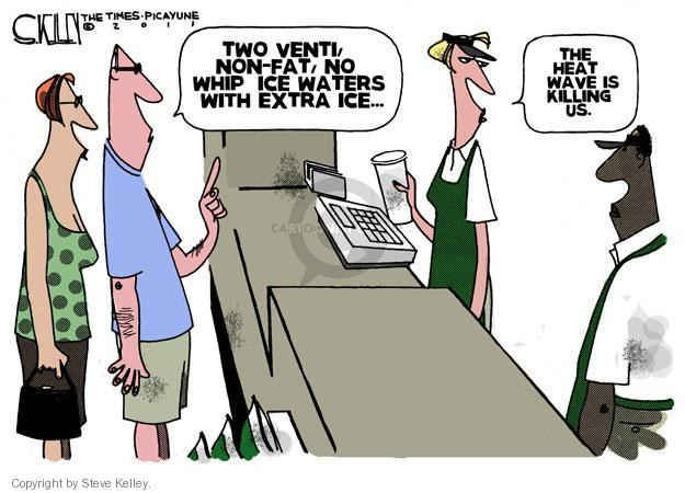 Cartoonist Steve Kelley  Steve Kelley's Editorial Cartoons 2011-07-21 heat