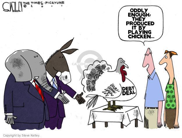 Steve Kelley  Steve Kelley's Editorial Cartoons 2011-08-02 deficit