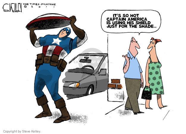 Cartoonist Steve Kelley  Steve Kelley's Editorial Cartoons 2011-08-05 heat