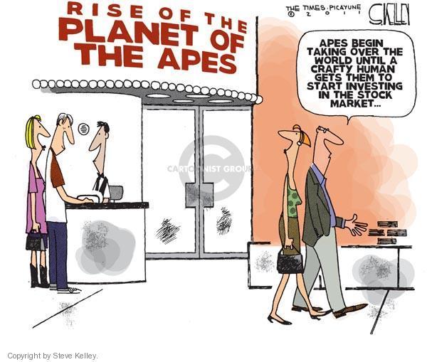 Steve Kelley  Steve Kelley's Editorial Cartoons 2011-08-10 stock market