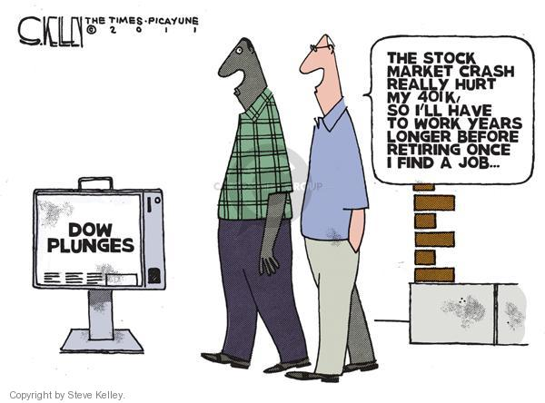 Steve Kelley  Steve Kelley's Editorial Cartoons 2011-08-11 stock market