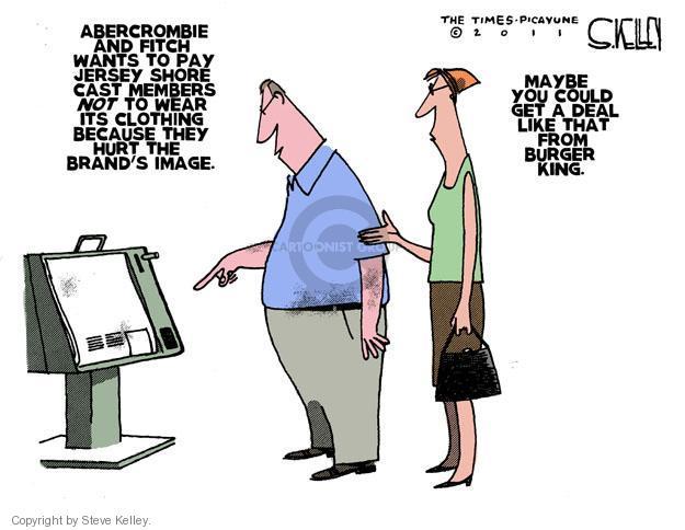 Cartoonist Steve Kelley  Steve Kelley's Editorial Cartoons 2011-08-18 fast food