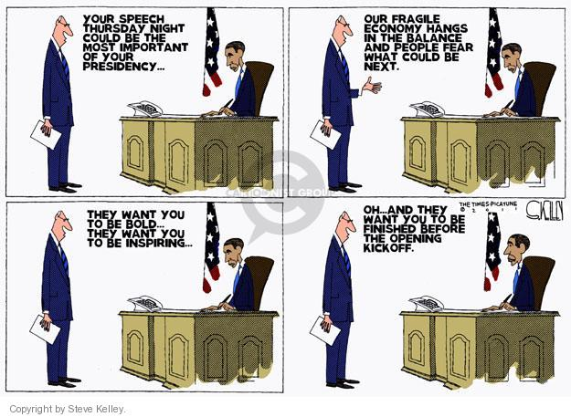 Cartoonist Steve Kelley  Steve Kelley's Editorial Cartoons 2011-09-07 speak