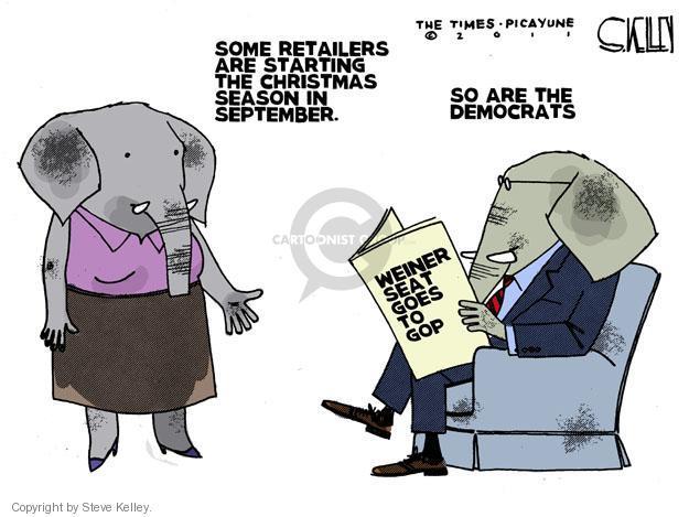 Steve Kelley  Steve Kelley's Editorial Cartoons 2011-09-15 holiday season