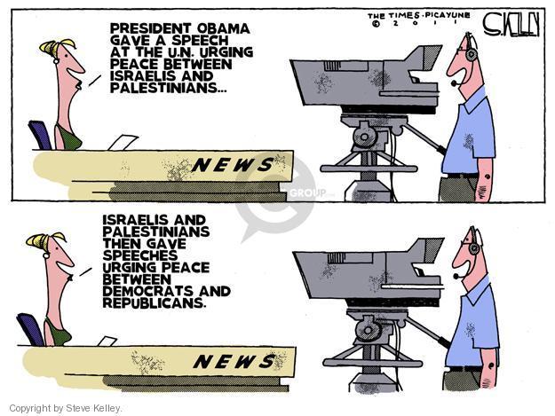 Steve Kelley  Steve Kelley's Editorial Cartoons 2011-09-22 Israel