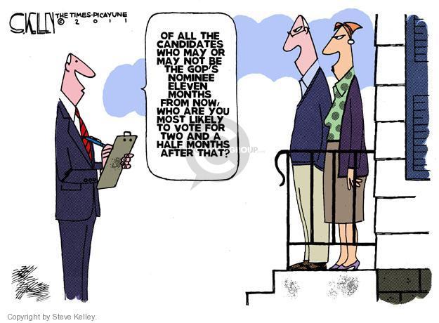 Cartoonist Steve Kelley  Steve Kelley's Editorial Cartoons 2011-10-02 election