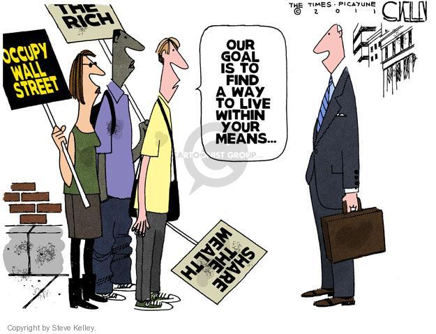 Steve Kelley  Steve Kelley's Editorial Cartoons 2011-10-14 protester