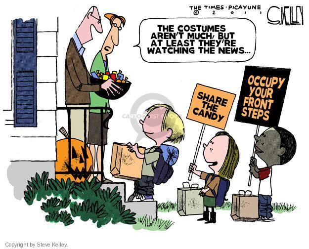 Steve Kelley  Steve Kelley's Editorial Cartoons 2011-10-16 protester