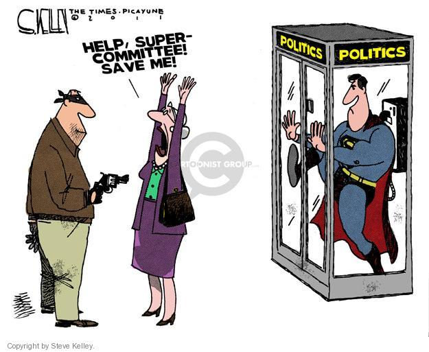 Cartoonist Steve Kelley  Steve Kelley's Editorial Cartoons 2011-11-06 congressional committee