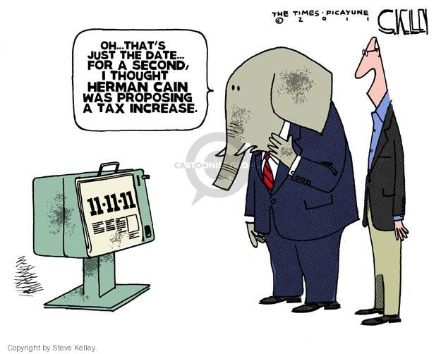 Cartoonist Steve Kelley  Steve Kelley's Editorial Cartoons 2011-11-11 election