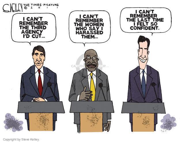 Steve Kelley  Steve Kelley's Editorial Cartoons 2011-11-12 republican debate