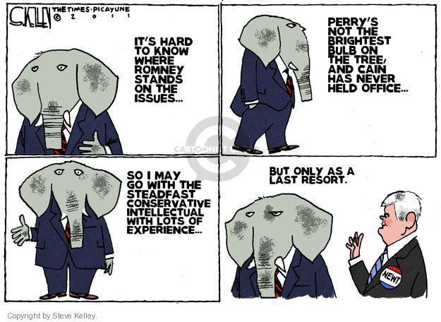 Steve Kelley  Steve Kelley's Editorial Cartoons 2011-11-13 candidate