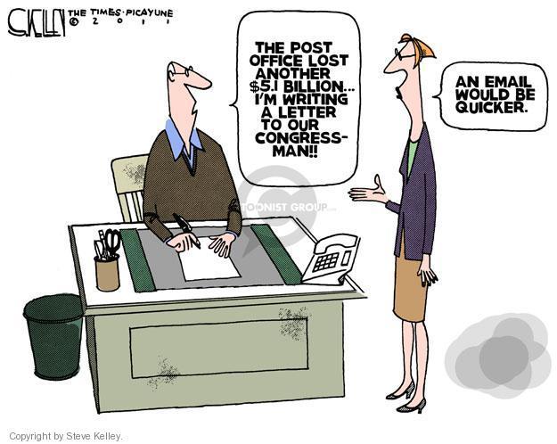 Cartoonist Steve Kelley  Steve Kelley's Editorial Cartoons 2011-11-16 office
