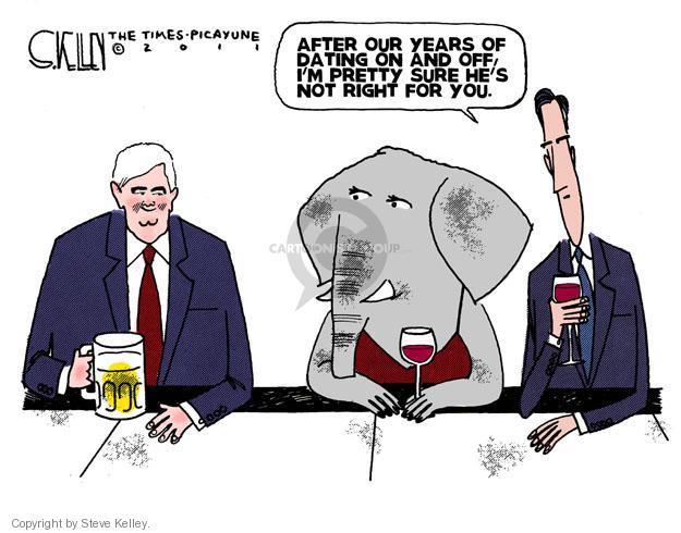 Cartoonist Steve Kelley  Steve Kelley's Editorial Cartoons 2011-12-02 election