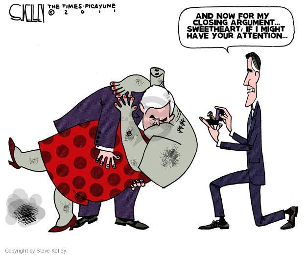 Steve Kelley  Steve Kelley's Editorial Cartoons 2011-12-09 GOP