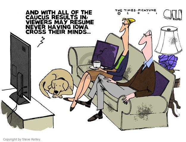 Steve Kelley  Steve Kelley's Editorial Cartoons 2012-01-05 GOP