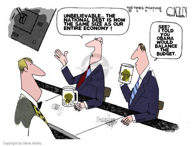 Steve Kelley  Steve Kelley's Editorial Cartoons 2012-01-10 Obama economy
