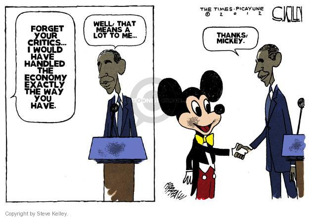 Steve Kelley  Steve Kelley's Editorial Cartoons 2012-01-22 Obama economy
