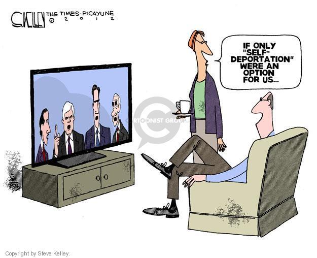 Cartoonist Steve Kelley  Steve Kelley's Editorial Cartoons 2012-01-29 election