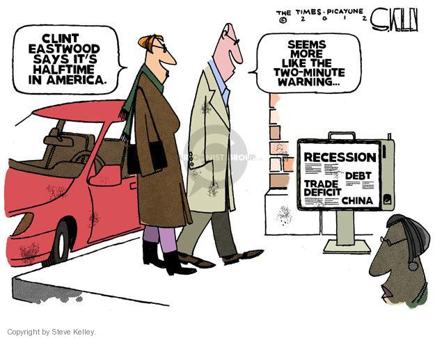 Cartoonist Steve Kelley  Steve Kelley's Editorial Cartoons 2012-02-08 recession