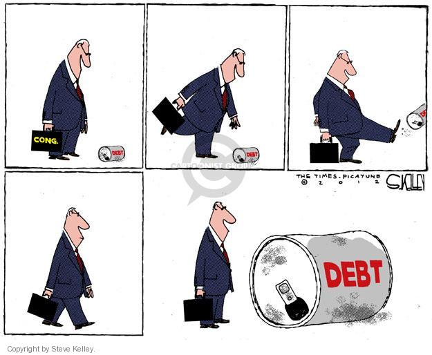 Steve Kelley  Steve Kelley's Editorial Cartoons 2012-02-19 deficit