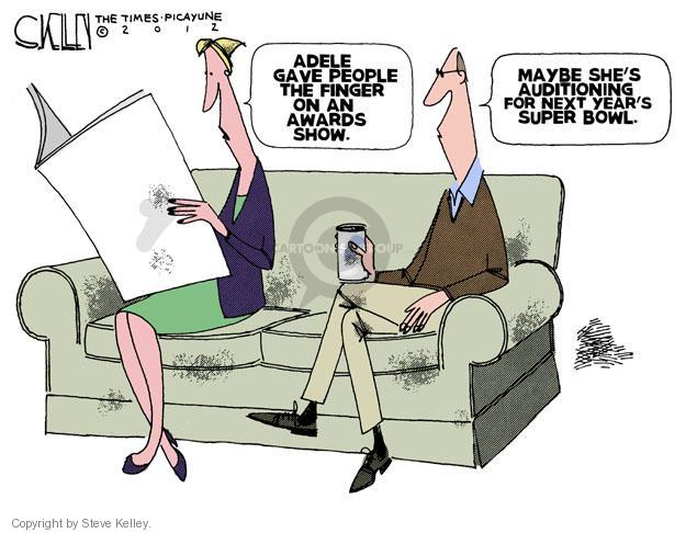 Cartoonist Steve Kelley  Steve Kelley's Editorial Cartoons 2012-02-23 singer