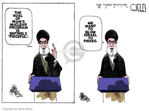 Steve Kelley  Steve Kelley's Editorial Cartoons 2012-03-09 Israel