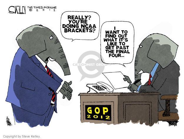 Steve Kelley  Steve Kelley's Editorial Cartoons 2012-03-15 GOP