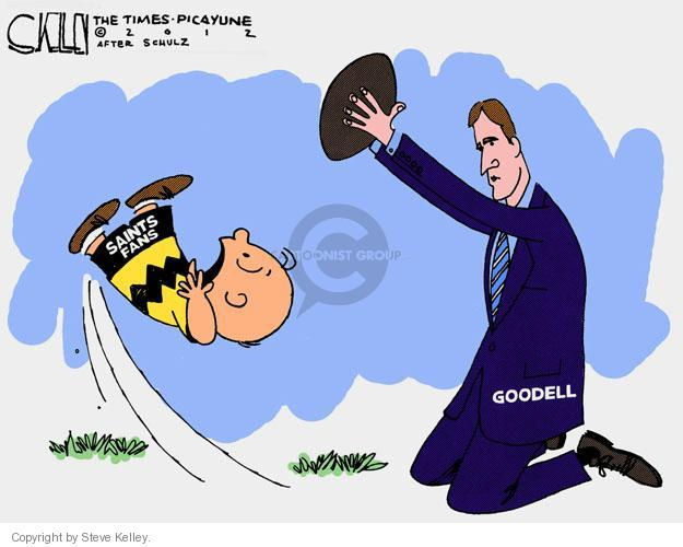 Cartoonist Steve Kelley  Steve Kelley's Editorial Cartoons 2012-03-22 football game
