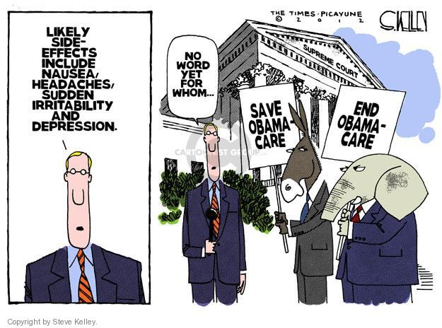 Steve Kelley  Steve Kelley's Editorial Cartoons 2012-03-27 Supreme Court
