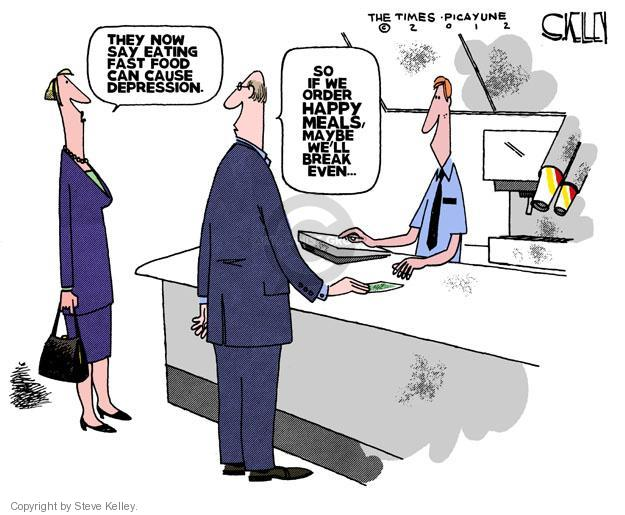Cartoonist Steve Kelley  Steve Kelley's Editorial Cartoons 2012-04-03 eat