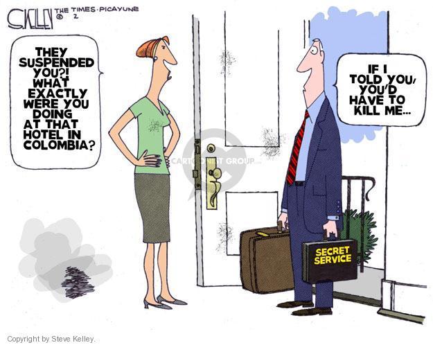Cartoonist Steve Kelley  Steve Kelley's Editorial Cartoons 2012-04-17 secret