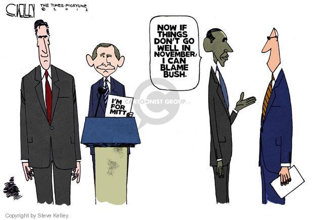 Steve Kelley  Steve Kelley's Editorial Cartoons 2012-05-18 2012 election endorsement