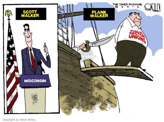 Cartoonist Steve Kelley  Steve Kelley's Editorial Cartoons 2012-06-07 recall election