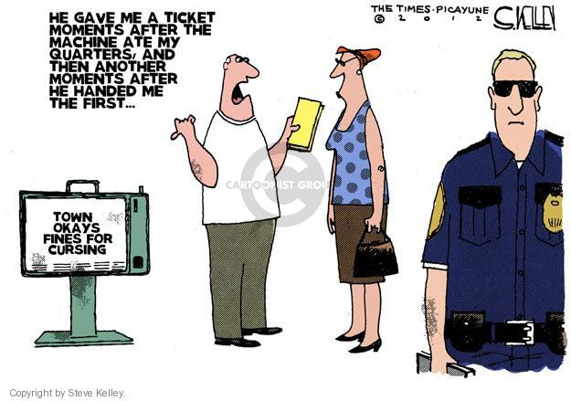 Steve Kelley  Steve Kelley's Editorial Cartoons 2012-06-14 police