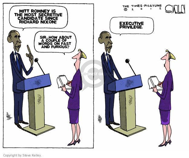Cartoonist Steve Kelley  Steve Kelley's Editorial Cartoons 2012-07-08 secret
