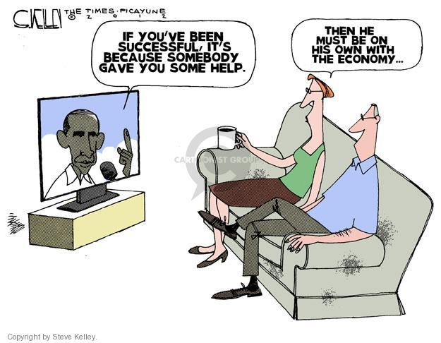 Cartoonist Steve Kelley  Steve Kelley's Editorial Cartoons 2012-07-17 recession
