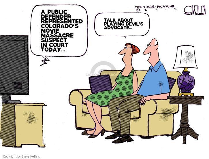 Cartoonist Steve Kelley  Steve Kelley's Editorial Cartoons 2012-07-24 killer
