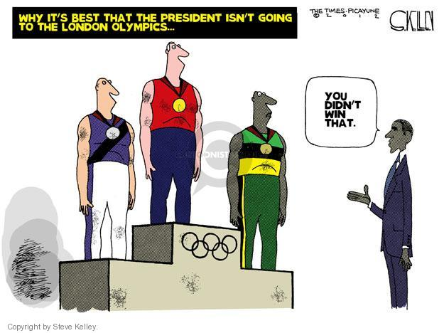 Cartoonist Steve Kelley  Steve Kelley's Editorial Cartoons 2012-07-29 athlete