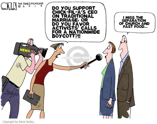 Cartoonist Steve Kelley  Steve Kelley's Editorial Cartoons 2012-08-02 fast food
